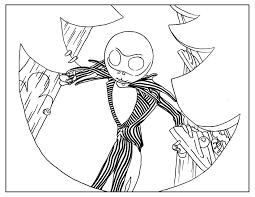 coloring page inspired by tim burton u0027s animation movie nightmare