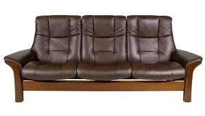 3 Seat Reclining Sofa Stressless Buckingham High Back 3 Seater Reclining Sofa Novello