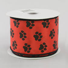 paw print ribbon 2 5 satin paw print ribbon black 10 yards rg1779cm