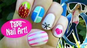 tape nail art 5 nail art designs u0026 ideas using a scotch tape
