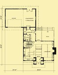 Bungalow Plans Craftsman Bungalow Plans Designed For A Narrow Urban Lot