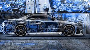 nissan r34 custom nissan skyline gtr r34 jdm crystal graffiti car 2014 el tony
