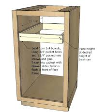 Kitchen Cabinet Trash Bedroom Elegant Kitchen Cabinets Replacement Trash Can For Cabinet