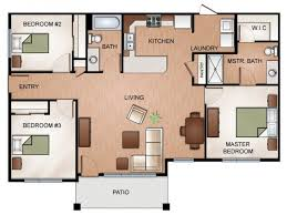 three bedroom ground floor plan 3 bed 2 bath apartment in liberty lake wa courtyard at river