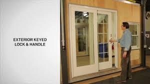 Patio Door With Blinds Between Glass by Patio Doors Series Sliding Patio Door Andersen Sound View Window