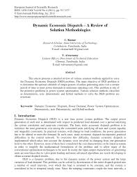 dynamic economic dispatch u2013 a review of solution methodologies