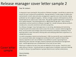 release manager cover letter