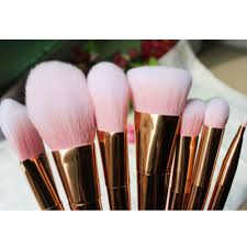 high quality foundation wood rose gold cosmetic makeup brush set