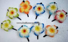 Flower Clips For Hair - hawaiian hair clips hawaiian eva foam flower frangipani plumeria