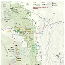 Capitol Reef National Park Map Capitol Reef National Park Utah Pegadas Na Estrada