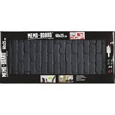 tableau magnetique cuisine brio 34560 memo board tableau magnetique 25x60cm