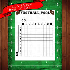 Football Squares Template Excel Football Pool Template 50 Squares Spreadsheets