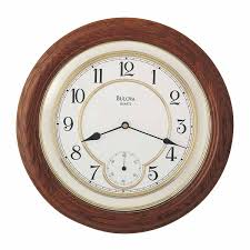 amazon com william 14 in wall clock by bulova home u0026 kitchen