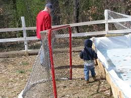 How To Make A Ice Rink In Your Backyard How To Build A Backyard Hockey Rink