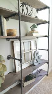 How To Make A Pipe Bookshelf Diy Industrial Pipe Shelves Step By Step Tutorial On This Shelf