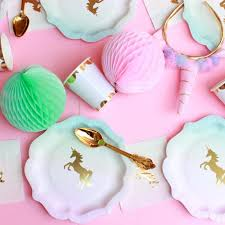 unicorn party supplies via blossom online party supplies store party decorations