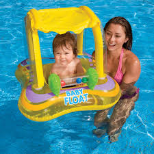 Intex Inflatable Swimming Pool Intex Kiddie Float With Canopy Baby Floats