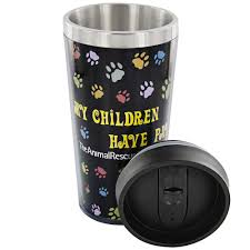 Travel Mug All My Children Have Paws Stainless Steel Travel Mug The Animal
