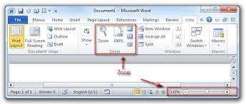 layout view zoom where is the zoom in microsoft word 2007 2010 2013 and 2016