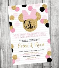 minnie mouse baby shower invitations pink and gold minnie mouse baby shower invitation