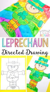 printable instructions classroom leprechaun directed drawing for st patrick s day primary