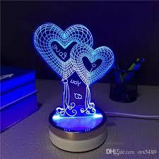 2018 new creative 3d illusion dragon lamp led night light table