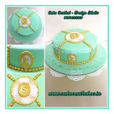 Venetian Themed Cake Elegant Green U0026 Golden Cake By Cake Central
