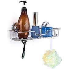 Suction Cup Bathroom Shelf Amazon Com Sanno Bathroom Shower Caddy Bath Shelf Storage