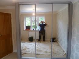 bedroom fascinating mirrored door wardrobe designs nottingham