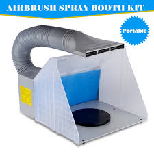 hobby airbrush spray booth kit exhaust fan filter extractor craft