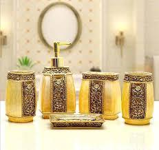 Bathroom Accessories Walmart Com by Gold Bathroom Accessoriesluxury Gold Bathroom Accessories Sets