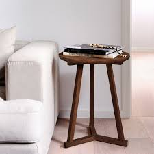 Tripod Side Table Ethnicraft Walnut Tripod Side Table Furniture Stores Melbourne
