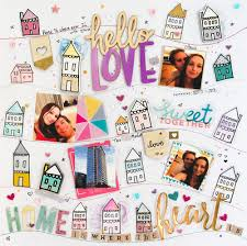 Home Is Where The Heart Is Home Is Where The Heart Is Artastic Dt Scrapbook Layout