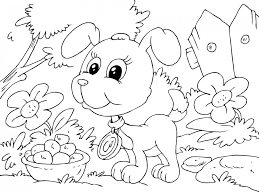 a puppy coloring pages virtren com