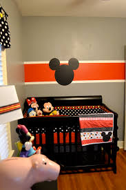 Red Mickey Mouse Curtains Mickey Mouse Nursery And A Baby Reveal Disney Nurseries And