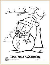 u0027s build snowman free printable coloring