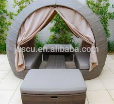 Round Outdoor Sofa Rattan Round Outdoor Lounge Bed Outdoor Furniture Daybed Round