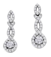 white gold diamond earrings brilliant gold jewellery 14k white gold diamond earring 60ct