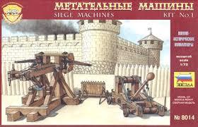 siege machines zvezda zvd 8014 1 72 siege machines no 1 catapults model kits