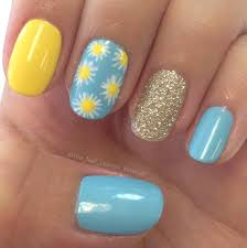 yellow blue nail art design u2026 pinteres u2026