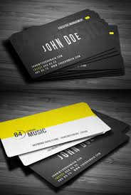 Business Card Music 28 Creative Corporate Business Cards Design Design Graphic