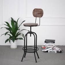 chaise bar industriel ikayaa tabouret chaise de bar style industriel en bois cadre métal