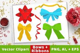 bows and ribbons christmas ribbons bows vector illustrations creative market