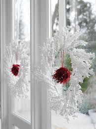 decorations christmas decoration ideas with icy wreaths hanging on