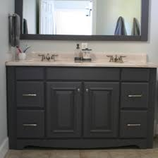 art deco black wooden double sink vanity decor with rounded wall