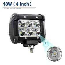 How To Make Led Light Bar by Amazon Com Yitamotor 2pack 18w 4 U0027 U0027 Square Led Work Light Bar Spot