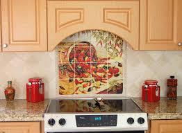 Kitchen Backsplash Tile Murals Kitchen Tile Ideas For Backsplash Chile Pepper Tiles