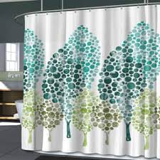 Blue And Green Shower Curtains Green Shower Curtain Free Home Decor Techhungry Us