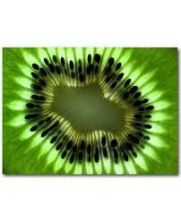 tableau design pour cuisine tableau kiwi vente de toile de fruits pour décoration de cuisine
