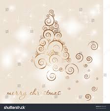 christmas poster abstract frosty tree snowflakes stock vector